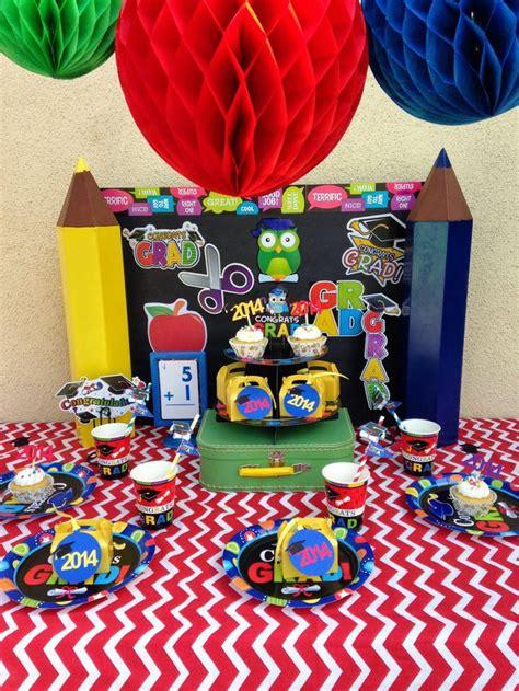 35 fascinating graduation centerpieces ideas table 256 | colourful kindergarten graduation party centerpieces 730