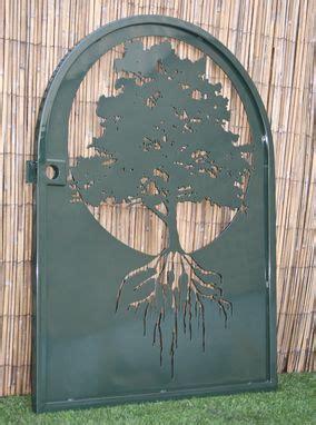 buy  hand  metal art gate tree  life wall panel art ornate garden gate laser cut panel   order  artisan gateworks llc