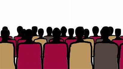 Chairs Clipart Rows Crowd Sitting Graphic Working