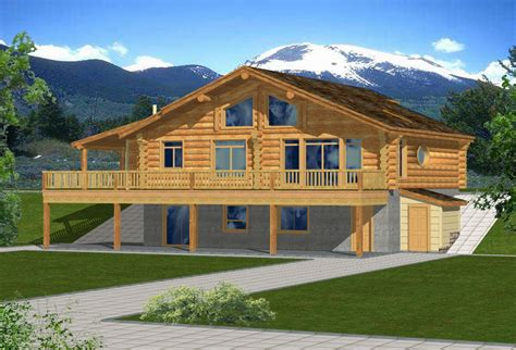 ranch style home plans  walkout basement country house porches draw   floor plan