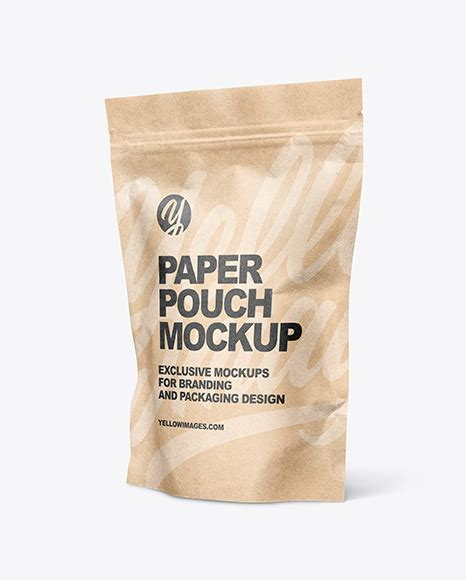 Today we are pleased to present you free. Kraft Paper Stand Up Pouch Mockup | Exclusive Mockups