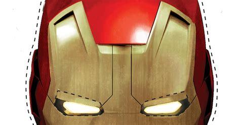 printable iron man mask   fiesta  geeks