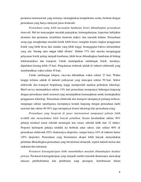 Foreign Direct Investment (FDI) dan Iklim investasi di