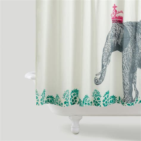elephant shower curtain crowned elephant shower curtain world market