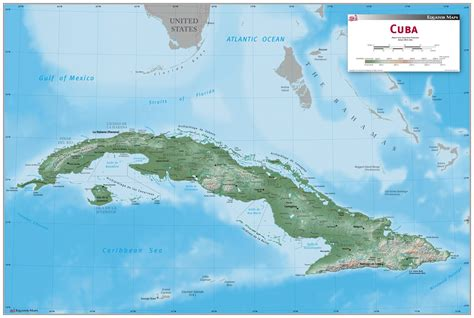 cuba wall map mapscom