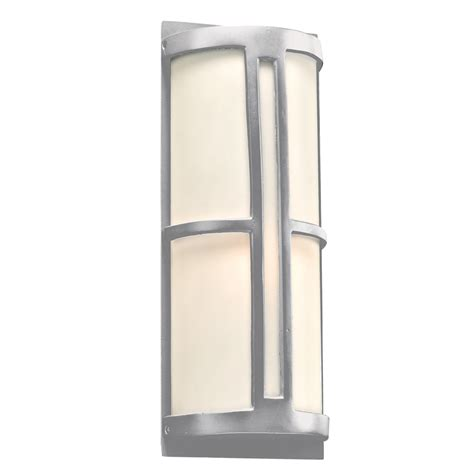 plc 31736sl rox contemporary silver outdoor wall light