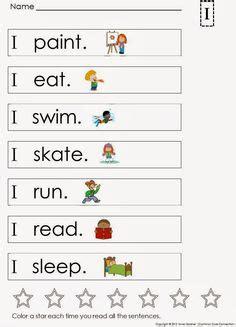 kindergarten sight word sentences  games  guided