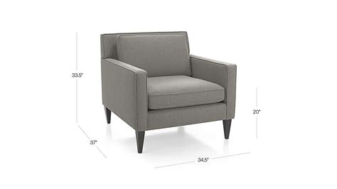 rochelle chair smoke crate and barrel