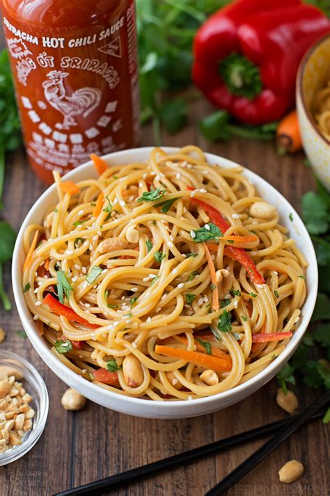 thai noodles 20 minute spicy thai noodle bowls life made simple