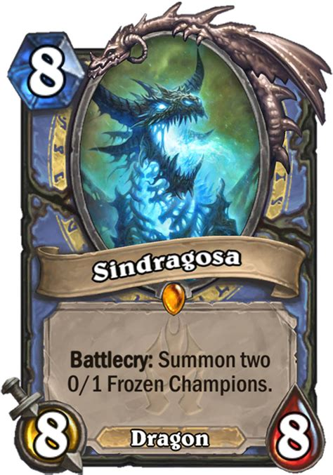 sindragosa hearthstone card hearthstone top decks