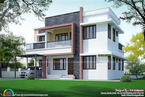 simple house plans simple home plan in modern style kerala home design and