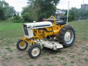 International Cub Tractor Yellow and White