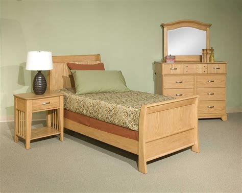 light oak youth casual bedroom furniture set classic