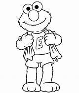 Bath Elmo Coloring Take Netart sketch template