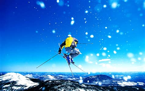 skiing winter sports hd wallpapers desktop wallpapers