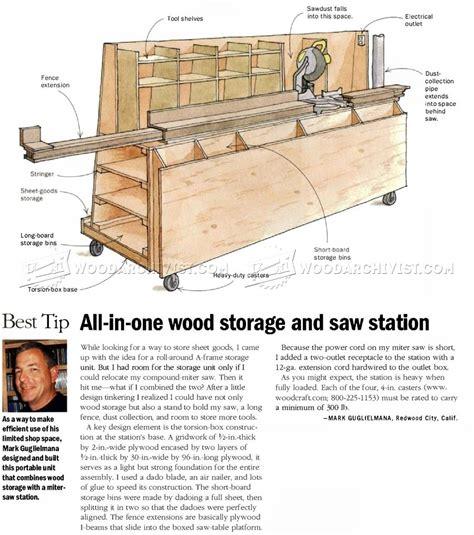 wood storage  miter  stand plans woodarchivist
