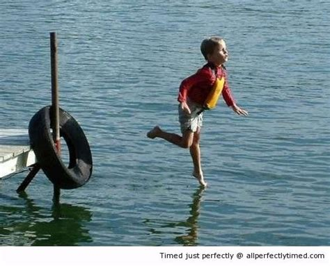 As If Walking On Water Was Not Easy  This Boy Shows It