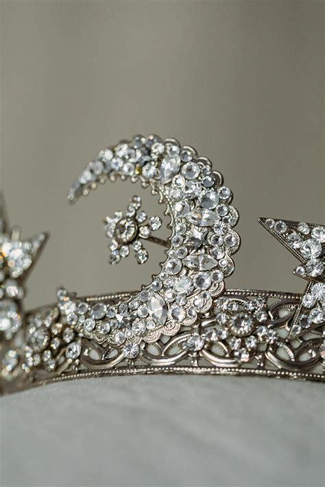 celestial crown, star crown, moons, wedding headpiece ...