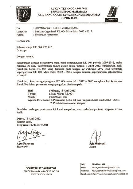 contoh surat undangan hut ri   surat