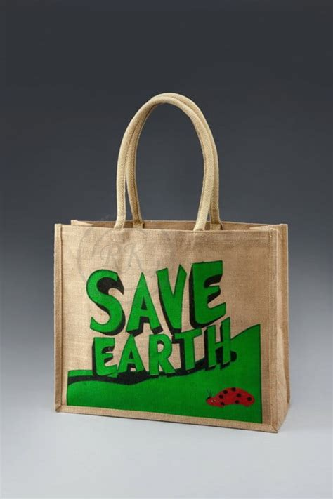 save earth jute shopping bags