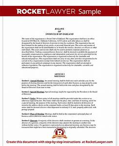 non profit bylaws template non profit organization structure With non profit charter template