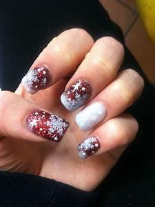 Christmas acrylic nail designs images