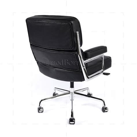 ea104 eames style office lobby black leather executive