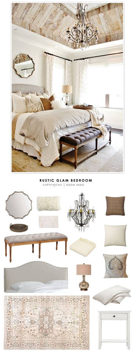 glam master bedroom room redo rustic glam bedroom for less copycatchic Rustic