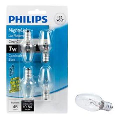 philips 7 watt incandescent c7 light replacement