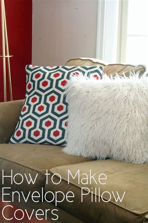 how to sew pillow covers how to make envelope pillow covers