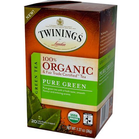 Twinings, 100% Organic Green Tea, Pure Green, 20 Tea Bags