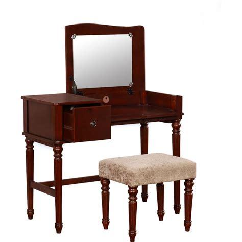 Bedroom Set With Vanity by Wyndham Walnut Bedroom Vanity Set With Flip Top Mirror