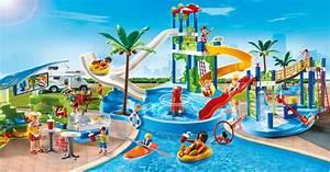 playmobil 6669 parc aquatique avec toboggans geants With playmobil piscine avec toboggan pas cher