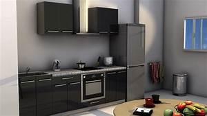 Kitchenette Pour Bureau : kitchenette pour hotel 180 noir meuble kitchenette hotel ~ Premium-room.com Idées de Décoration