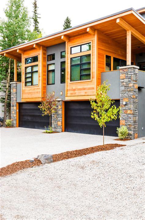 modern mountain duplex rustic exterior calgary