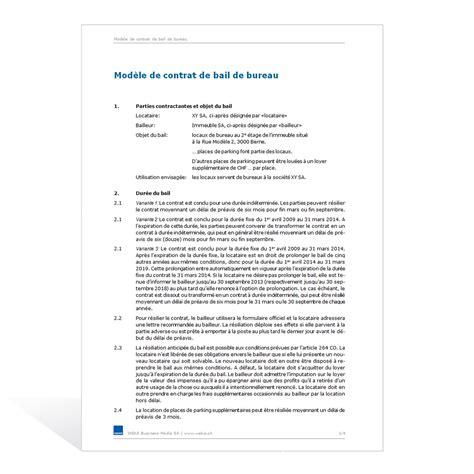 bail bureaux mod e modele bail bureau document