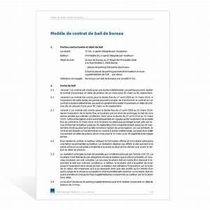 Modele Bail Bureau Document Online