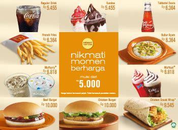 menu paket hemat mcd  mcdonald indonesia terbaru