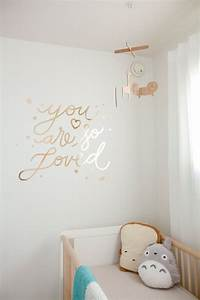 you are so loved wall decal nursery home decor gold or With perfect reflective wall decals ideas to sparkle your rooms