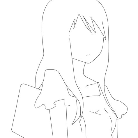 anime template free line feel free to use anime by kaylawaylalineart on deviantart