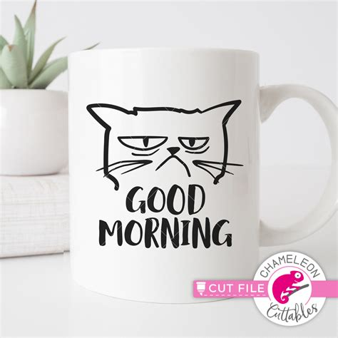 We offer savings of up to 96% off the rrp on design elements from thousands of independent designers. Good morning - grumpy cat - funny SVG for coffee mug - SoFontsy