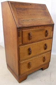 Small Solid Oak Writing Bureau Desk 154305