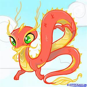 How to Draw a Chinese Dragon For Kids, Step by Step ...