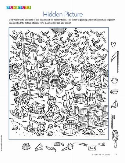 Hidden Printables Objects Pages Puzzles Coloring Object