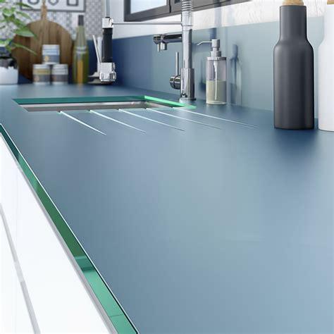 plans de travail cuisine sur mesure plan de travail sur mesure verre laqué gris de plomb ep