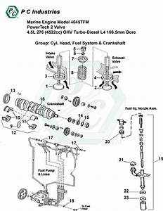 Marine Engine Model 4045tfm Powertech 2 Valve 4 5l 276