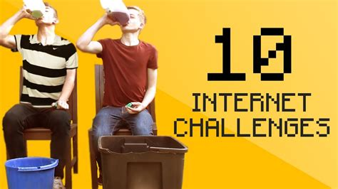 10 Internet Challenges  Part 1 (10k Special) Youtube