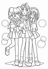 Coloring Pages Friends Friend Anime Printable Sakura Cardcaptor Drawings Teenage Cool Fashionable Letscolorit Swift Taylor Phone Super Popular Template sketch template