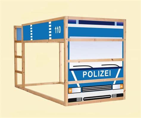 Kinderzimmer Gestalten Polizei by Aufkleber F 252 R Das Hochbett Ikea Kura Motiv Quot Polizeiauto