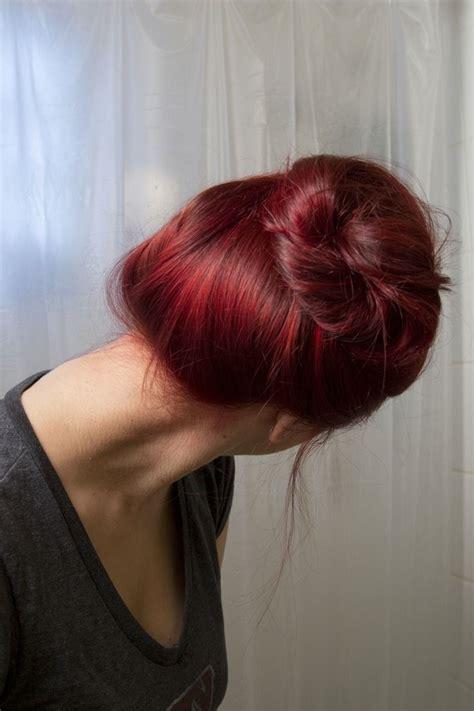 dye  brown hair red  bleach  youre